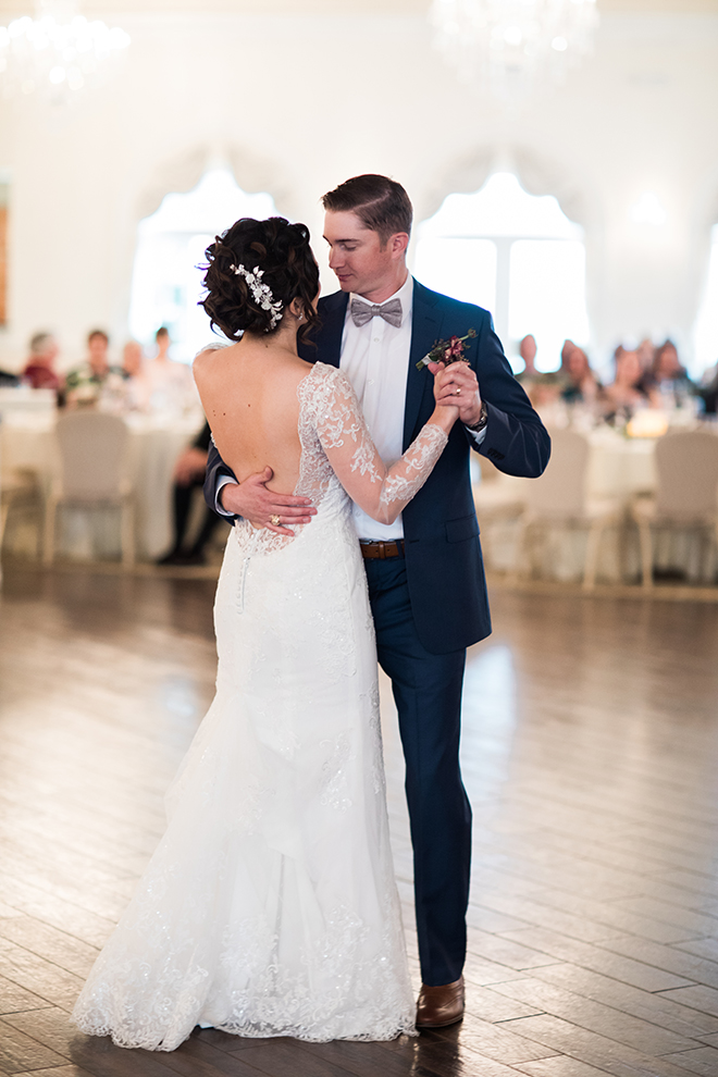 ashton gardens wedding, winter wedding, first dance, wedding reception, dance floor