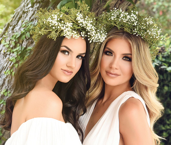 bridal hair and makeup wedding beauty long loose beachy waves smokey eye natural glam flower crowns houston stylists makeup artists