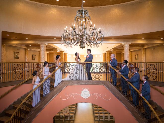 Houston chateau wedding venue double staircase gran ballroom polonez
