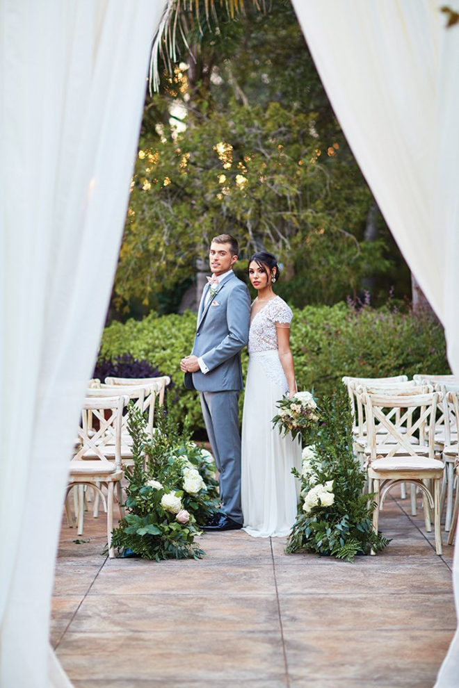 Houston outdoor wedding ceremony Chateau Polonez forest fairytale castle