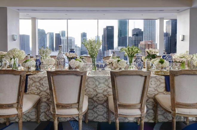 Skyline ballroom hilton americas houston downtown wedding venue hotel