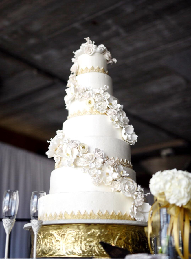 houston couture wedding cakes white floral tiered custom couture fondant