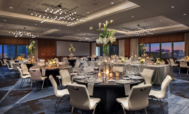 le meridien downtown houston wedding hotel grand ballroom
