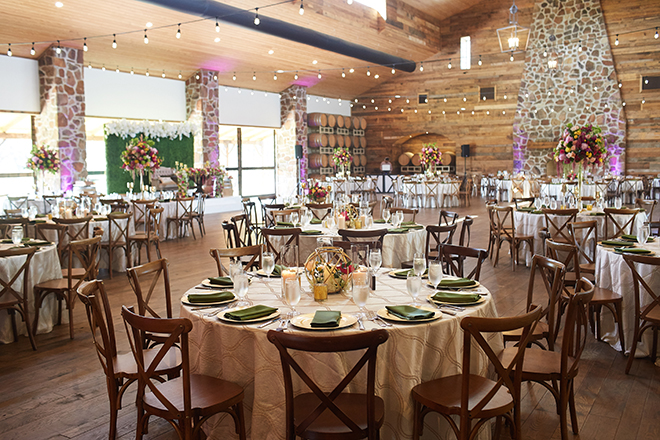 boho chic wedding by plants n' petals, texas wedding, vineyard, plants n' petals, cafe natalie, parvani vida bridal & formal, pine forest country club, bright flowers, wedding photography, floral centerpiece, reception decor, table settings, string lights