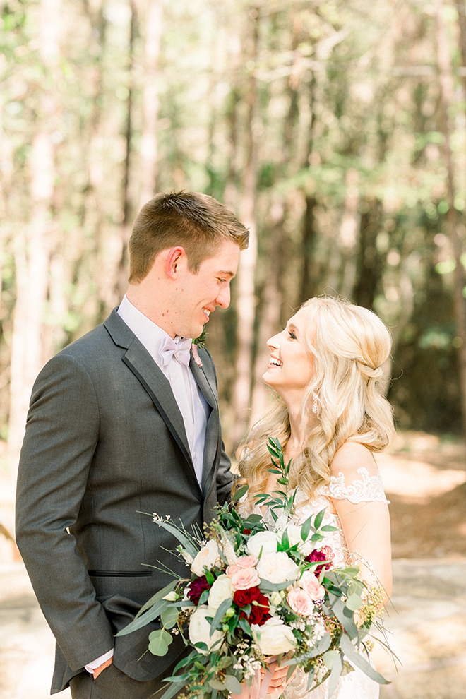 rustic barn wedding texas haute flowers bride groom