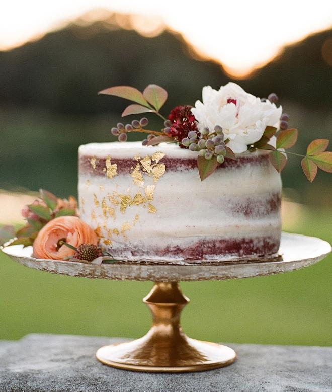 outdoor wedding reception naked cake houston wink erica