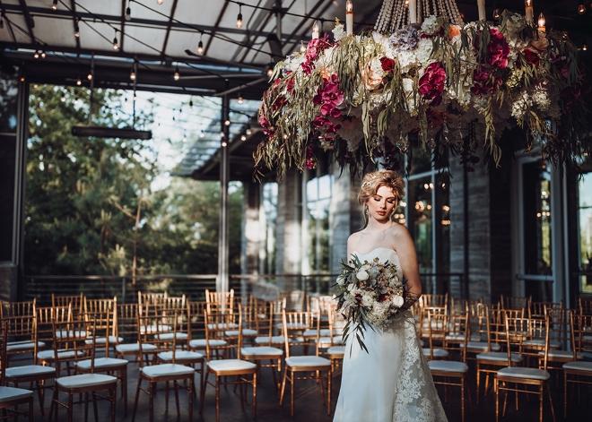 the dunlavy houston wedding venue outdoor rooftop terrace ceremony