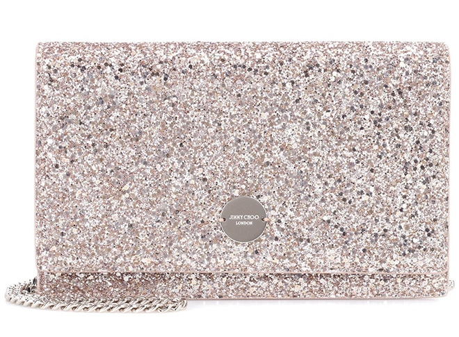 Jimmy Choo Florence cross body clutch crystal sparkle bridal bags