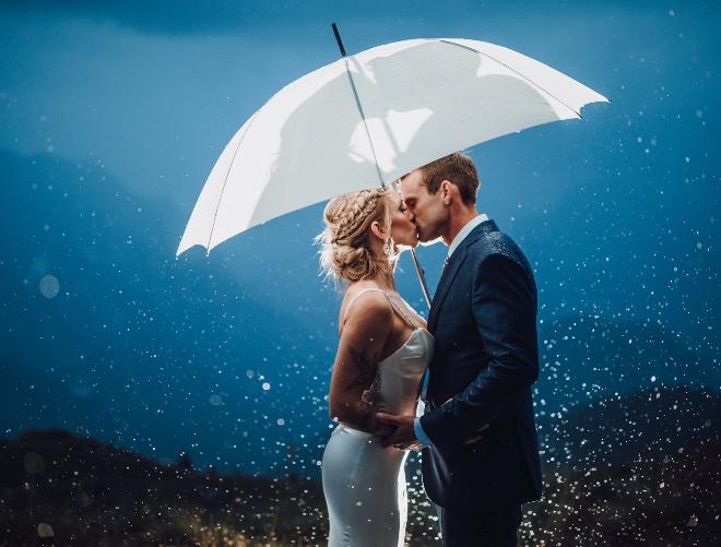 indoor outdoor houston weddings rain umbrella plan weather storm backup