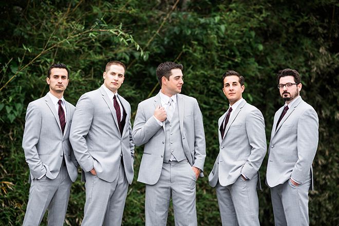 light gray grooms groomsmen suits texas wedding