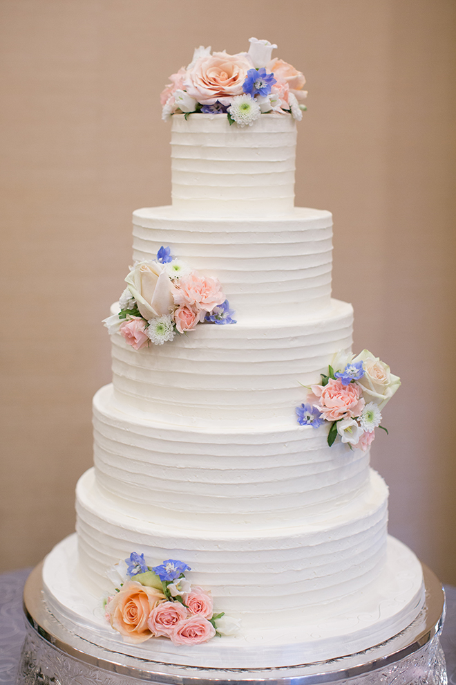 cakes by gina houston white stacked round wedding cake pastel flowers spring