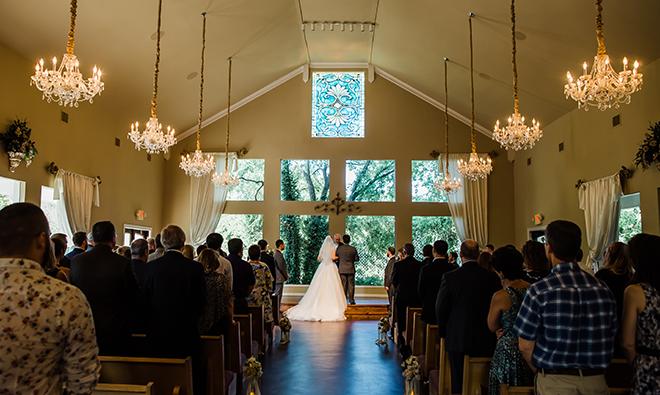 garden wedding venue country chapel windows ceremony houston
