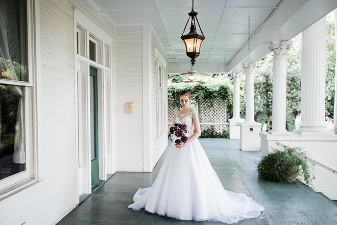 garden wedding venue houston conroe heather's glen bride porch
