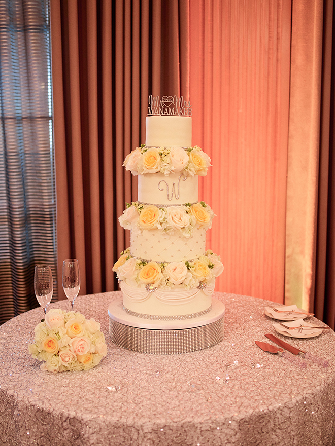 cakes by gina wedding cake galveston white yellow tiered flowers