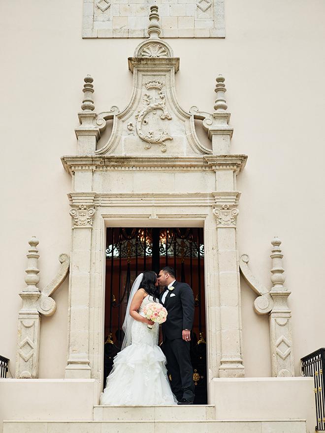 castle blush and white wedding texas houston