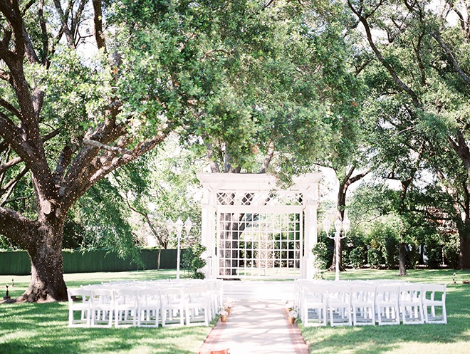 gazebo altar southern wedding outdoor ceremony