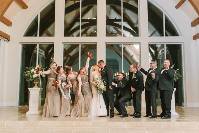 gold winter wedding ashton gardens chapel ceremony