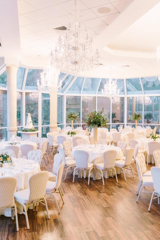 ashton gardens venue houston wedding white ballroom windows