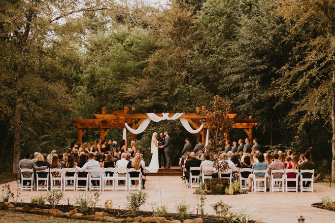 magnolia meadows houston elegant barn weddings destination outdoor ceremony arbor pergola forest