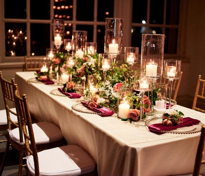 i do soiree photos raofactor civic reception table candles evening