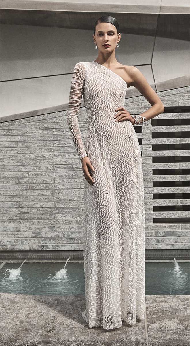 Naeem Khan Wedding Gown - Available in Houston at Joan Pillow Bridal Salon
