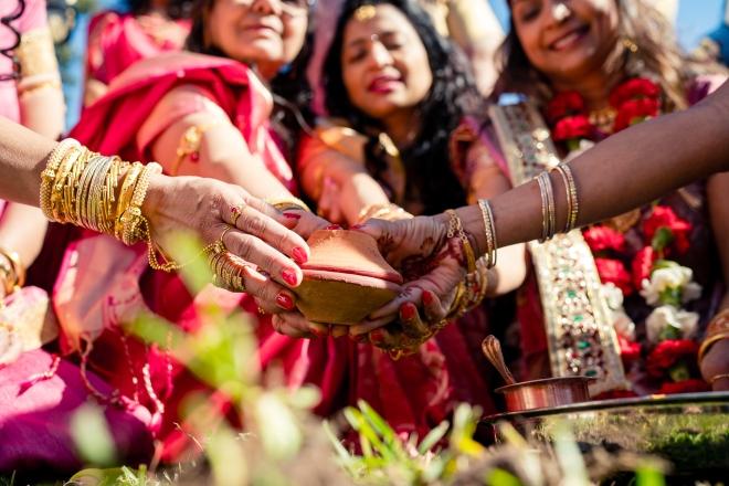 hindu-muslim wedding houston hands closeup