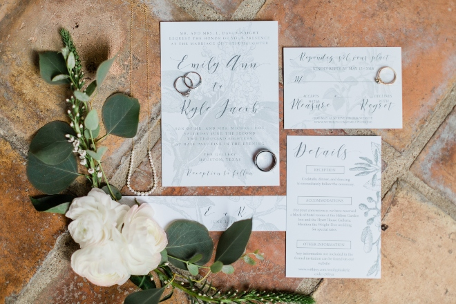 green blush and ivory wedding the gallery houston texas venue invitation suite