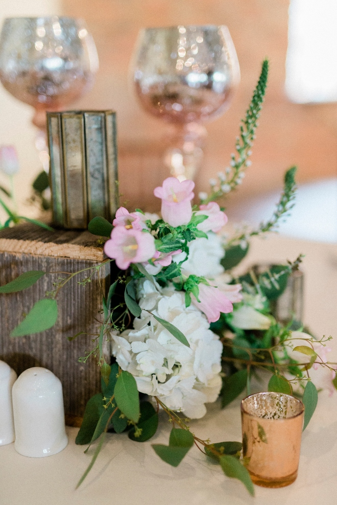 green blush and ivory wedding the gallery houston texas lantern organic centerpiece pink mercury glass