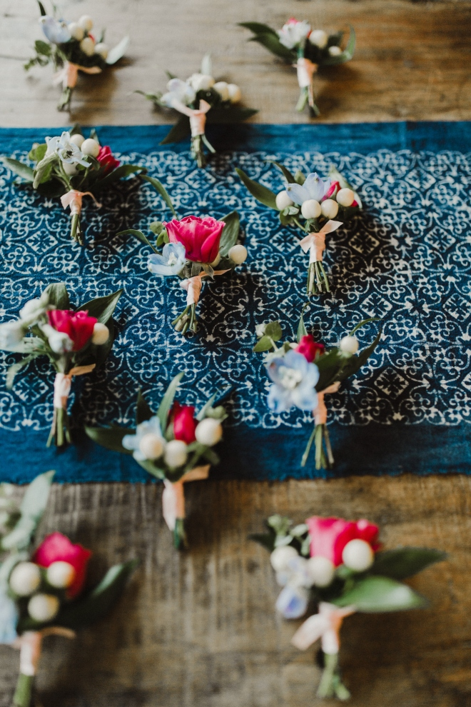 boho hill country wedding texas vintage eclectic boutonniere
