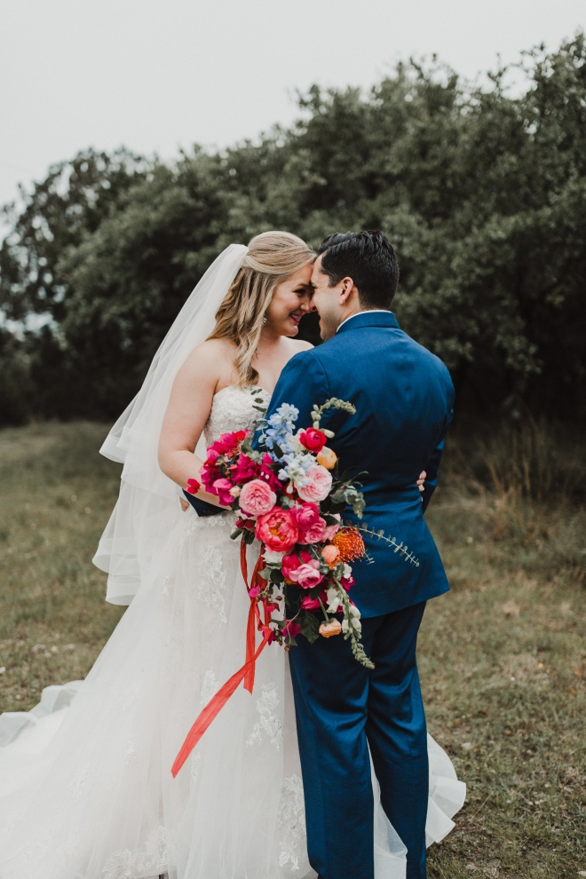 boho hill country wedding texas terrace Club outdoor portrait