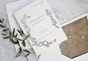 Wedding Invitations by Memory Lane Paperie
