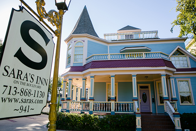 Sara's Inn Houston Heights wedding venue victorian house mansion bed breakfast
