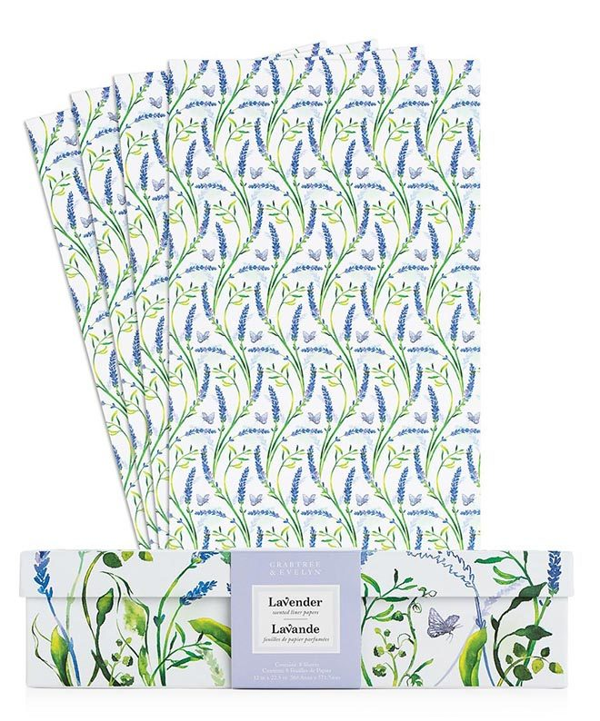 Crabtree & Evelyn Lavender Drawer Liners | Available at Bering's