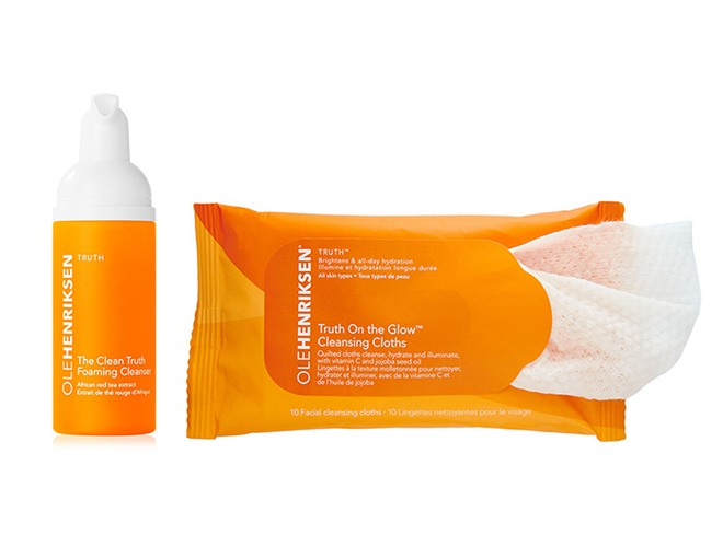 olehenriksen the clean truth foaming cleanser truth on the glow cleansing cloths honeymoon beauty