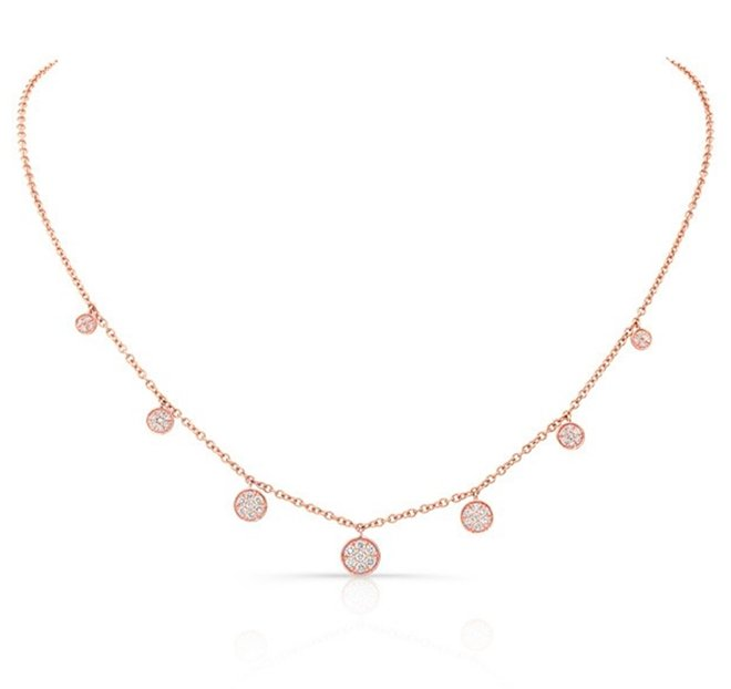 modern rose gold diamond wedding jewelry necklace houston bridal shower looks