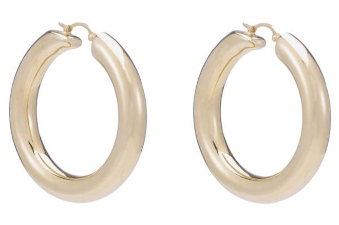 quality gold hoop earrings ariel gordon jewelry designer bridal shower looks