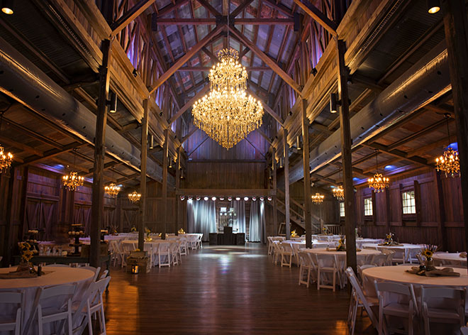 Texas Barn Weddings - Eagle Dancer Ranch - rustic chic hill country weddings - chandelier