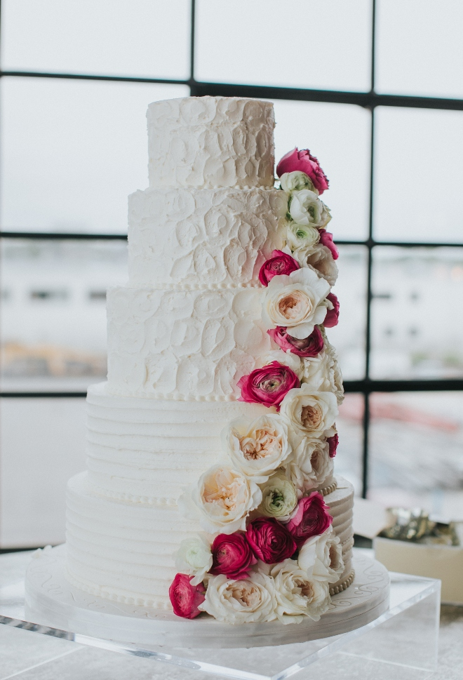 cakes by gina five tier white wedding cake floral garland