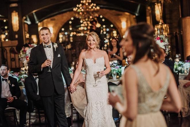 modern elegant wedding the astorian julie kevin toast chandeliers