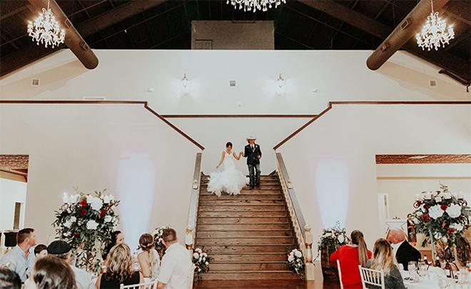 North Houston Wedding Venue - Grand Staircase