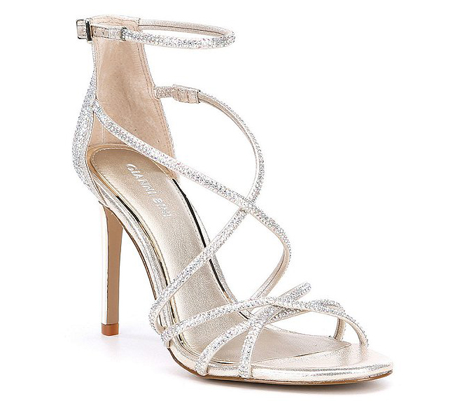 gianni bini wedding sandals heels silver strappy sandals bridal shower looks