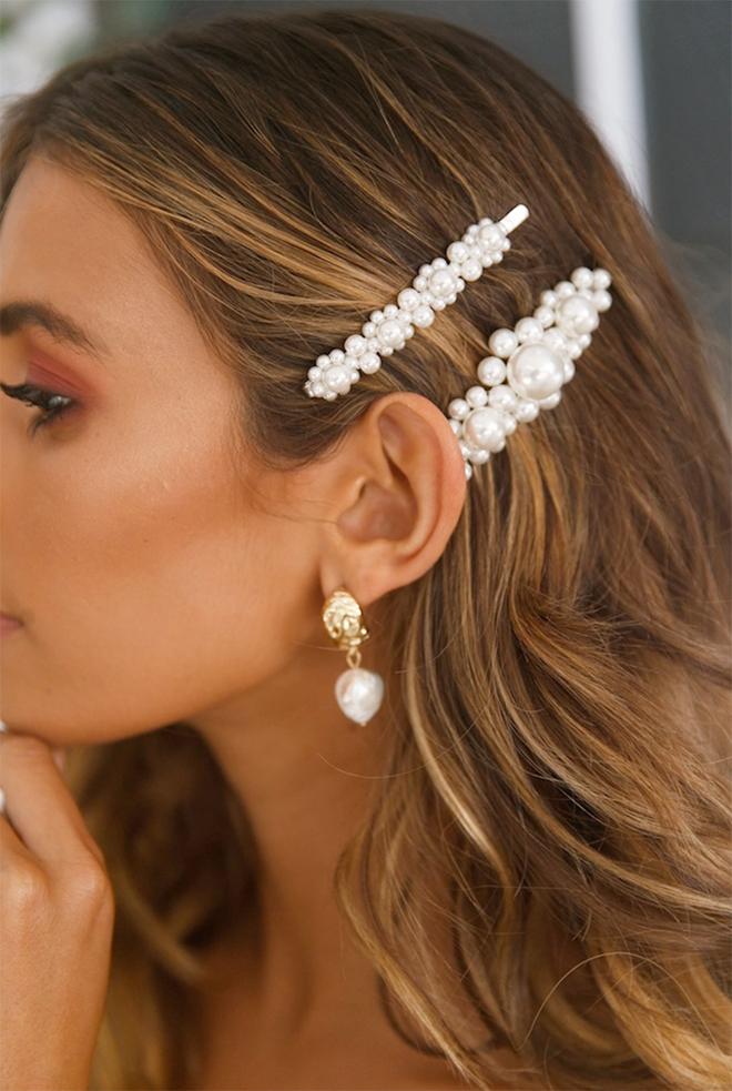 2019 Fall Bridal Barettes - Double Barettes - Bridal Hair pins