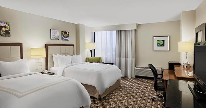 Houston Marriott North - modern hotel wedding guest accomodations in Houston