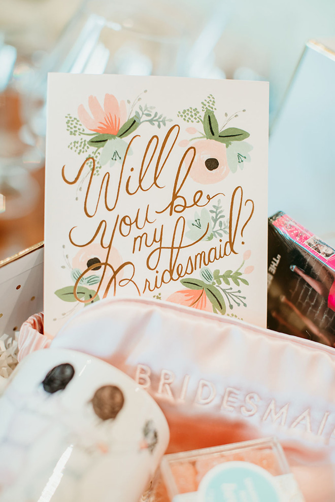 Pretty bridesmaids proposal card by rifle paper company