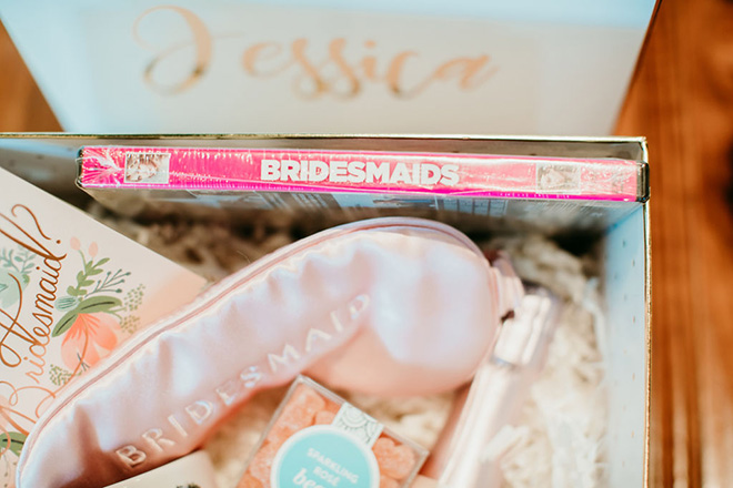 bridesmaids proposal box with bridesmaids DVD