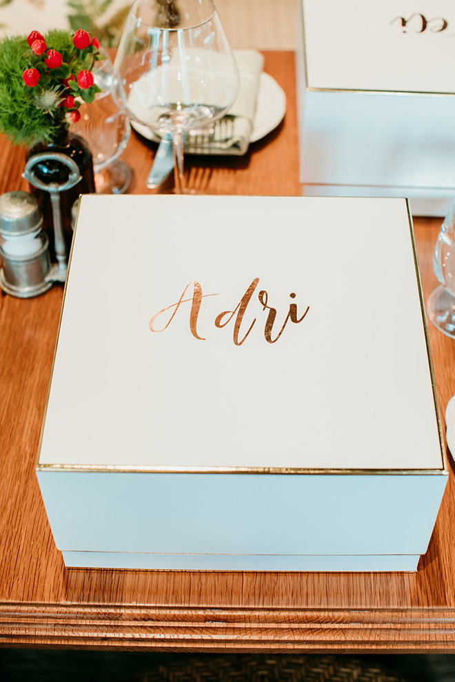 custom vinyl decal - personalized gift box