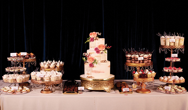 houston texas dessert bar and wedding cakes - cakes by gina