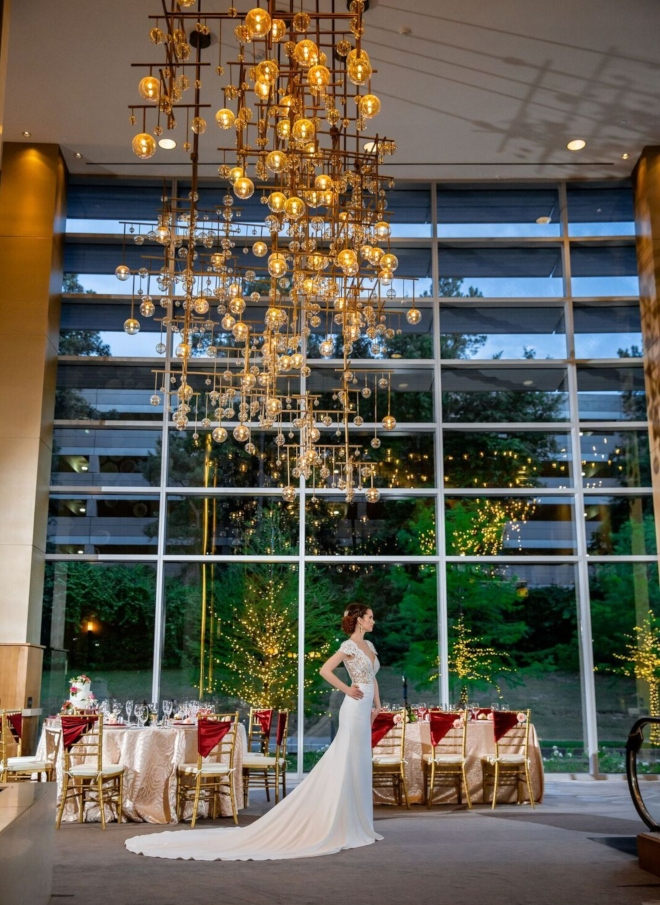 modern wedding venue the woodlands westin waterway rooftop ceremony ballroom