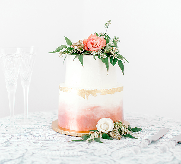 small sweet bridal shower wedding cake