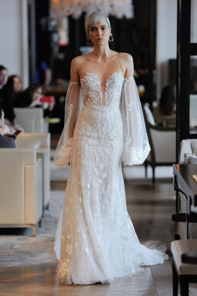 long sleeve bridal gown spring 2020 ines di santo joan pillow nala